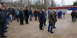 Bauleute  Planer und Gäste werden zum Richtfest begrüßt © 2018 Betrieb für Bau und Liegenschaften Mecklenburg-Vorpommern