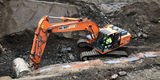 20.2.2019 - Die Fundamente des ehemaligen Heizhauses werden ebenfalls entfernt. © 2019 Betrieb für Bau und Liegenschaften Mecklenburg-Vorpommern