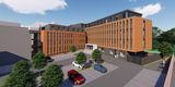 Passt sich ein - Visualisierung des Neubaus an der Domstraße © 2019 buttler architekten GmbH  Rostock
