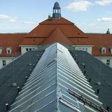 Glasdach vor der Sanierung © 2019 Betrieb für Bau und Liegenschaften Mecklenburg-Vorpommern