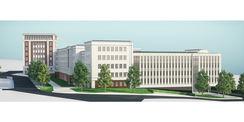 Visualisierung des Behördenzentrums Rostock in der Blücherstraße 1-3 © 2019 ARGE buttler brenncke architekten  Rostock