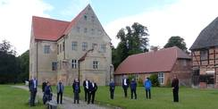 Start zur gemeinsamen Besichtigung des Schlosses © 2020 SBL Greifswald