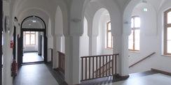Blick in das sanierte Treppenhaus © 2020 milatz.schmidt architekten gmbh  Neubrandenburg