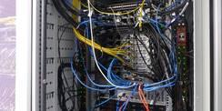 Kabelschrank im Serverraum des Rechenzentrums © 2020 SBL Greifswald