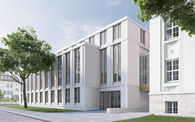 Grafische Darstellung des Neubaus © 2020 Staatliches Bau- und Liegenschaftsamt Schwerin