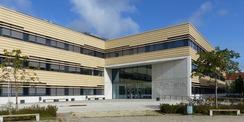 Neubau CFGM - Südseite mit Haupteingang vom Berthold-Beitz-Platz © 2020 Staatliches Bau- und Liegenschaftsamt Greifswald