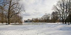 Schloss Ludwigslust mit winterlichen Anblick © 2021 SBL Schwerin