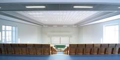 Aus dem Konjunkturpaket II finanziert: Hörsaal im Zentrum der Inneren Medizin am Klinikum der Universität Rostock. © 2010 Christian Hoffmann  FM M-V