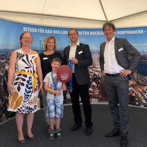 v. l.: Ute Brinckmann  Grit Evert  Volker Traut und Christian Hoffmann vom BBL M-V. © 2018 Maria Normann