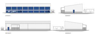 Ansichten der Fahrzeughalle © 2018 Betrieb für Bau und Liegenschaften Mecklenburg-Vorpommern