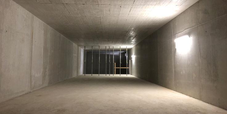 Blick in die zukünftige 25 m lange Schießbahn © 2018 Betrieb für Bau und Liegenschaften Mecklenburg-Vorpommern