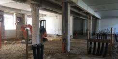 So sah es während der Sanierung aus - Blick in das entkernte Gebäude. © 2018 Betrieb für Bau und Liegenschaften Mecklenburg-Vorpommern