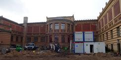Staatliches Museum Schwerin - Restaurierung der Fassade und Neugestaltung der Außenanlagen im Innenhof © 2018 Betrieb für Bau und Liegenschaften Mecklenburg-Vorpommern