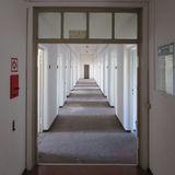 Blick in einen Flur - Büros werden  hier eingerichtet. © 2018 Dr. Michael Sieg  Landesamt für Gesundheit und Soziales Mecklenburg-Vorpommern