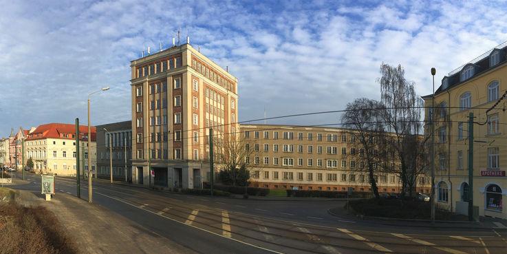 Die ehemalige Dienststelle der Polizei wird nach der Sanierung als Behördenzentrum genutzt. Die vorbereitenden Arbeiten beginnen im September 2019. © 2017 Betrieb für Bau und Liegenschaften Mecklenburg-Vorpommern