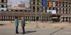 Es ist angerichtet. Richtfest am Neubau in der Hansekaserne am 4. September 2018. © 2018 Betrieb für Bau und Liegenschaften Mecklenburg-Vorpommern