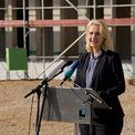 Ministerpräsidentin des Landes Mecklenburg-Vorpommern Manuela Schwesig am Rednerpult. © 2018 Betrieb für Bau und Liegenschaften Mecklenburg-Vorpommern