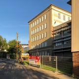 Blick auf die Baustelle Blücherstraße Ecke Ferdinandstraße. © 2018 Betrieb für Bau und Liegenschaften Mecklenburg-Vorpommern