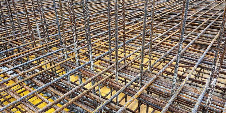 Bewehrung auf der Baustelle für das Landesamt für Denkmalpflege © 2018 Betrieb für Bau und Liegenschaften Mecklenburg-Vorpommern