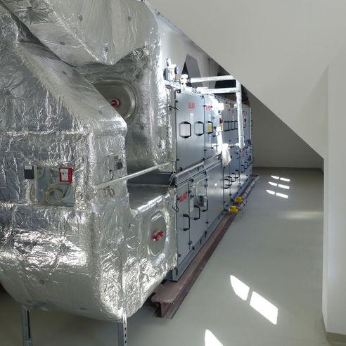 Lüftungszentrale im 2. Obergeschoss der Mensa © 2018 Betrieb für Bau und Liegenschaften Mecklenburg-Vorpommern