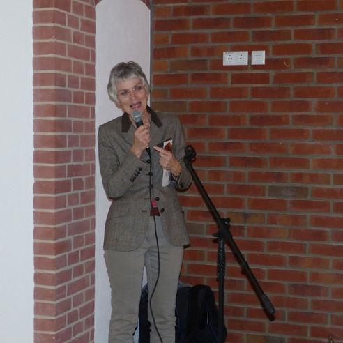 Professorin Johanna Eleonore Weber  Rektorin der Universität Greifswald  bei Ihrem Grußwort © 2018 Betrieb für Bau und Liegenschaften Mecklenburg-Vorpommern