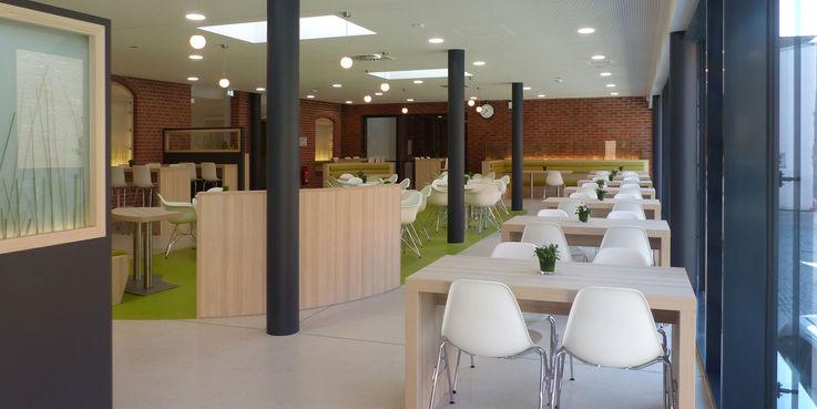 Blick in die Cafeteria © 2018 Betrieb für Bau und Liegenschaften Mecklenburg-Vorpommern