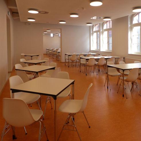 Einer der Speiseräume im Obergeschoss © 2018 Betrieb für Bau und Liegenschaften Mecklenburg-Vorpommern