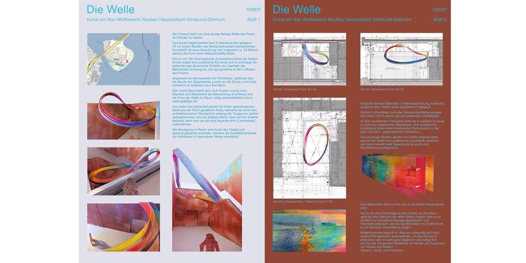 Wettbewerbsentwurf Miriam Giessler + Hubert Sandmann  Essen mit dem Titel  Die Welle  © 2018 Miriam Giessler + Hubert Sandmann  Essen