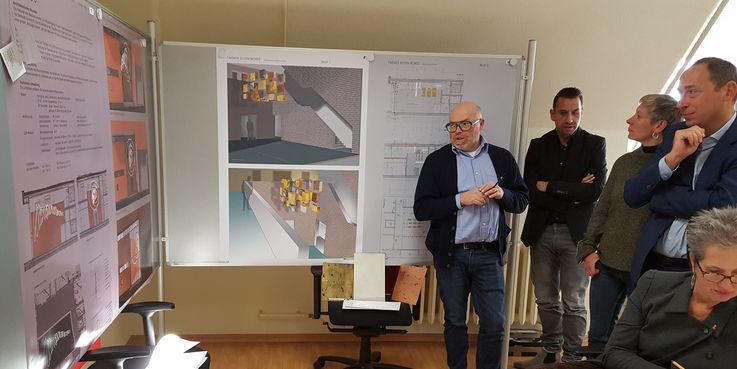 Fachliche Begutachtung der Entwürfe durch das Preisgericht © 2018 Betrieb für Bau und Liegenschaften Mecklenburg-Vorpommern