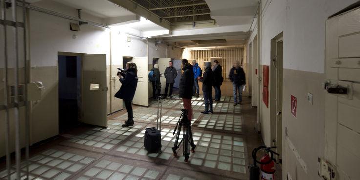 Presse- und Medienvertreter wurden beim Rundgang am 6. Dezember 2018 über das Bauprojekt des BBL M-V informiert. © 2018 Betrieb für Bau und Liegenschaften Mecklenburg-Vorpommern