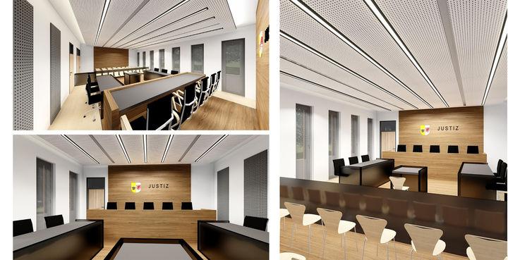 Computeranimation der Verhandlungssäle © 2018 Buttler Architekten GmbH Rostock