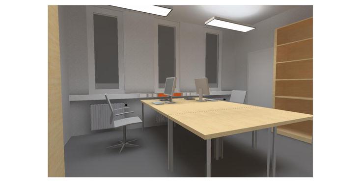 Computeranimation eines Büros © 2018 Buttler Architekten GmbH Rostock