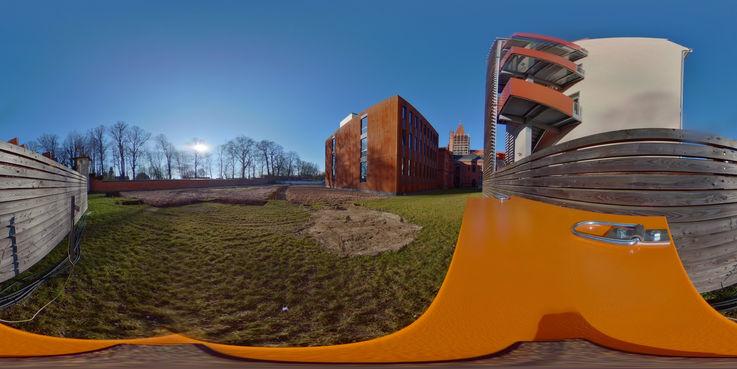 360°-Panorama - schauen Sie sich auf dem Baufeld um! © 2019 Betrieb für Bau und Liegenschaften Mecklenburg-Vorpommern
