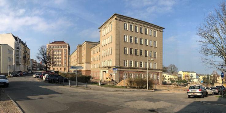 Das - Grüne U - unter diesem Titel entsteht das Behördenzentrum an der Blücherstraße im Herzen Rostocks. © 2019 Betrieb für Bau und Liegenschaften Mecklenburg-Vorpommern