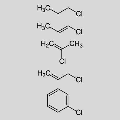 Strukturformel für Monochlorsubstituierte Kohlenwasserstoffe - LCKW sind in erheblichem Maße im Grundwasser auf der ehemaligen WGT-Liegenschaft gefunden und zwischenzeitlich entsorgt worden. © 2010 JÜ | Wikipedia