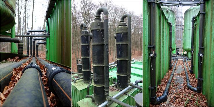 Blick auf die Anlage - Fast 14 Millionen Liter Grundwasser sind seit Oktober 2008 mit dieser Anlage gereinigt worden. © 2018 Betrieb für Bau und Liegenschaften Mecklenburg-Vorpommern