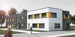 Visualisierung des neuen Gebäudes in der Pressentinstraße in Rostock-Gehlsdorf. © MPP GmbH Architekten + Ingenieure  Rostock