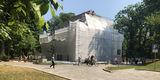 Seit März 2019 laufen die Arbeiten am Torhaus. Der Auftakt zur Schlossinsel wird bis 2020 restauriert. © 2019 Betrieb für Bau und Liegenschaften Mecklenburg-Vorpommern