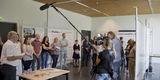 Uwe Sander vom BBL M-V gibt den Preisträger und die Platzierten des Architektenwettbewerbs bekannt. © 2019 Betrieb für Bau und Liegenschaften Mecklenburg-Vorpommern