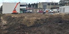 Baufeld wird vorbereitet: Suche nach Kampfmitteln im März 2019. © 2019 Betrieb für Bau und Liegenschaften Mecklenburg-Vorpommern
