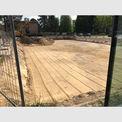 Blick aus der Forschungshalle BTI auf das Baufeld Forschungshalle BTII: Die Baugrube ist vorbereitet im Mai 2019. © 2019 Betrieb für Bau und Liegenschaften Mecklenburg-Vorpommern