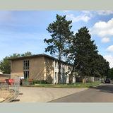 Blick von der Joachim-Jungius-Straße auf das Statikgebäude. © 2019 Betrieb für Bau und Liegenschaften Mecklenburg-Vorpommern
