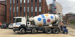 Be happy - frischer Beton wird angeliefert. © 2019 Betrieb für Bau und Liegenschaften Mecklenburg-Vorpommern