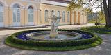 Der Brunnen an der Orangerie sprudelt wieder. © 2019 Betrieb für Bau und Liegenschaften Mecklenburg-Vorpommern