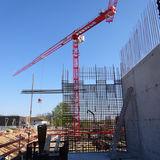 Der Kran über der größten Baustelle des Landes M-V © 2019 Betrieb für Bau und Liegenschaften Mecklenburg-Vorpommern