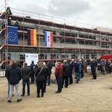 Von oben herab - Der Richtspruch wird verlesen. © 2019 Betrieb für Bau und Liegenschaften Mecklenburg-Vorpommern