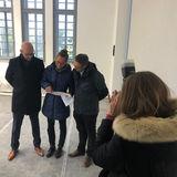 Das Bauprojekt stellte der BBL M-V vor. Von links: Robert Klaus (Leiter)  Claudia Rohatzsch (Projektleiterin) und Thomas Möller (Dezernent) © 2019 Betrieb für Bau und Liegenschaften Mecklenburg-Vorpommern