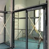 Fenster und Türen sind in den oberen Etagen eingebaut. © 2019 Betrieb für Bau und Liegenschaften Mecklenburg-Vorpommern