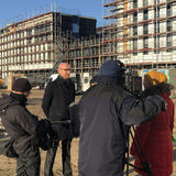 Robert Klaus  Leiter des BBL M-V Geschäftsbereichs Schwerin  am 10. Dezember 2019 im Interview mit Sabine Frömel vom NDR. © 2019 Betrieb für Bau und Liegenschaften Mecklenburg-Vorpommern