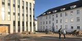 Steht Rede und Antwort: Projektleiterin Cornelia Gauß vom BBL M-V im Interview mit NDR-Redakteur Jürgen Opel. © 2019 Betrieb für Bau und Liegenschaften Mecklenburg-Vorpommern